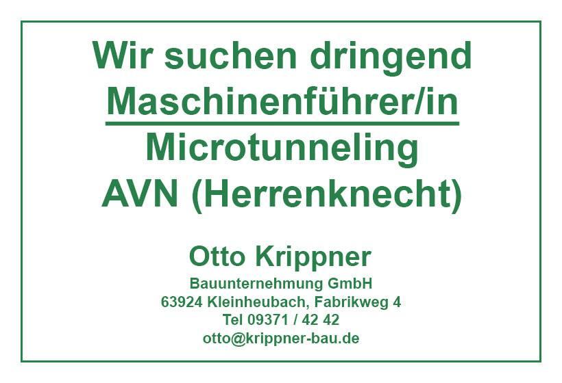 Maschinenfuehrer Microtunneling AVN-Maschine Herrenknecht